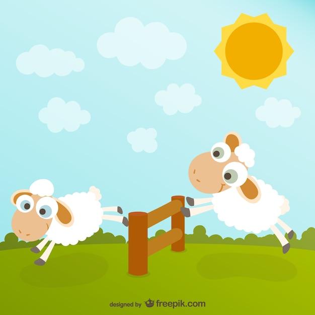 Desenhos Animados Bonitos Ovelhas