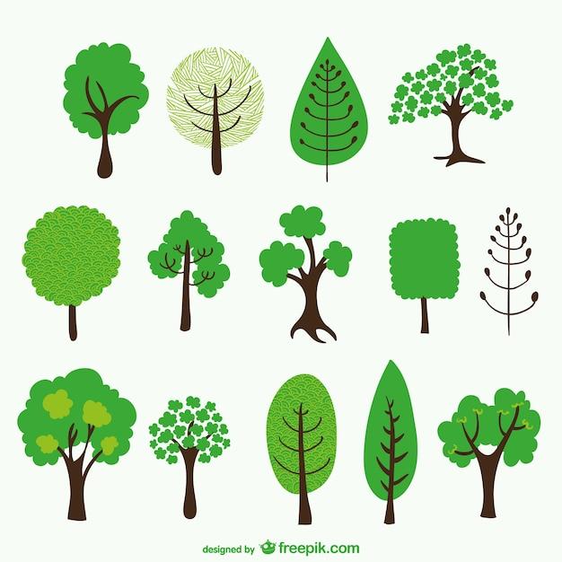 Desenhos Animados Da árvore De Embalar Baixar Vetores Grátis