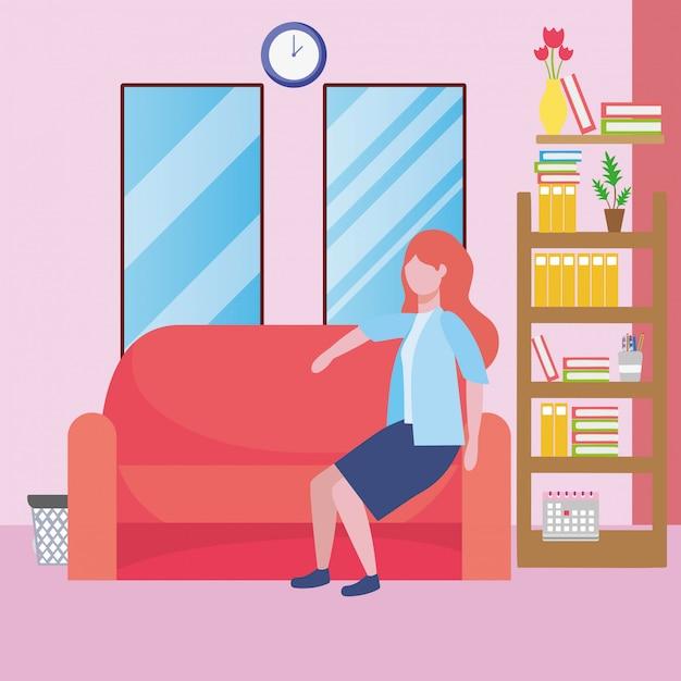Desenhos animados de avatar de mulher de negócios Vetor grátis
