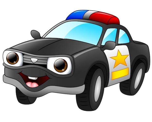 Desenhos Animados De Carro De Policia Vetor Premium