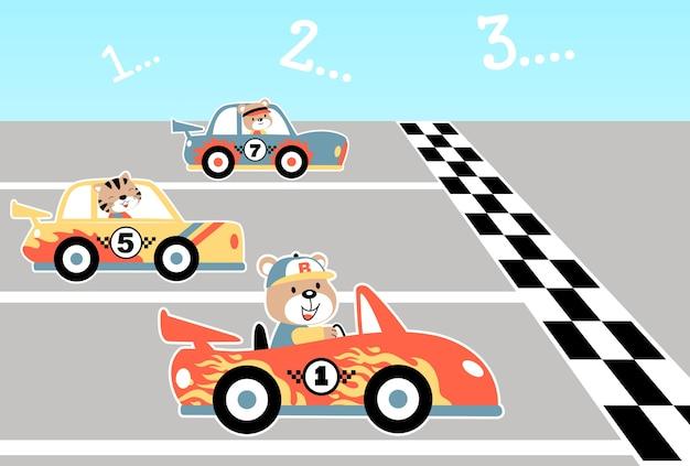 desenhos animados de corrida de carros baixar vetores premium