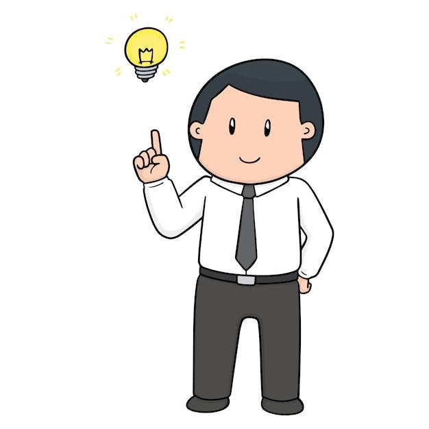 Desenhos animados de empresário Vetor Premium