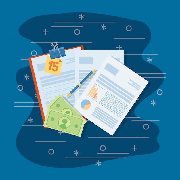 Desenhos animados de finanças pessoais Vetor Premium
