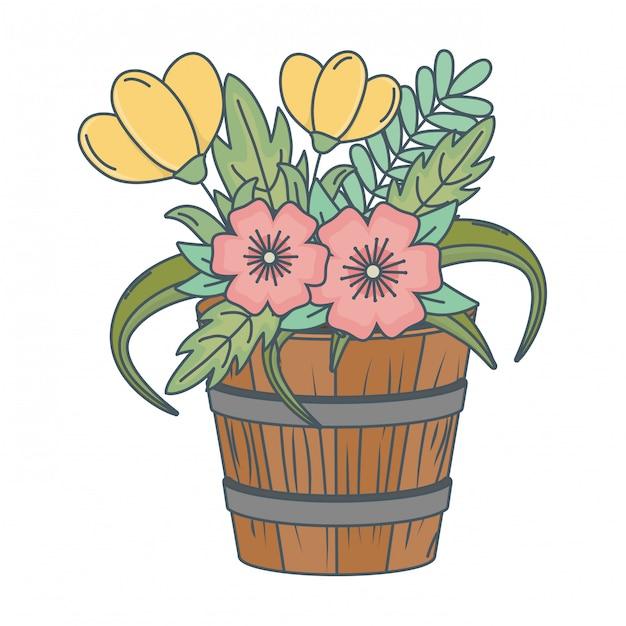 Desenhos animados de flores natureza floral Vetor grátis