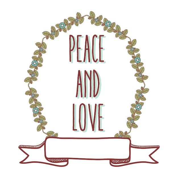 Desenhos Animados De Paz E Amor Vetor Premium