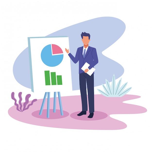 Desenhos Animados De Trabalho Executivo Profissional De Negocios