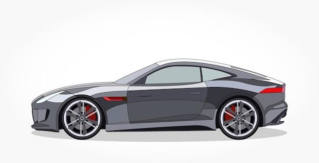 Desenhos Animados Pretos De Carros Esportivos Com Efeito Detalhado