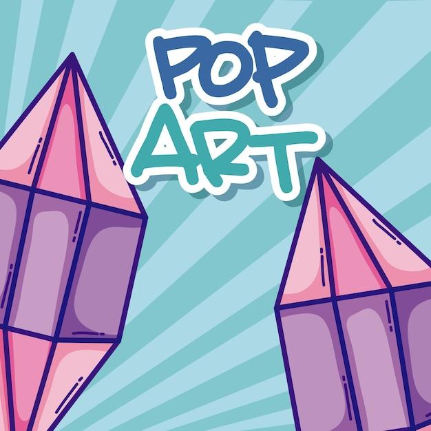 Desenhos de arte pop Vetor Premium