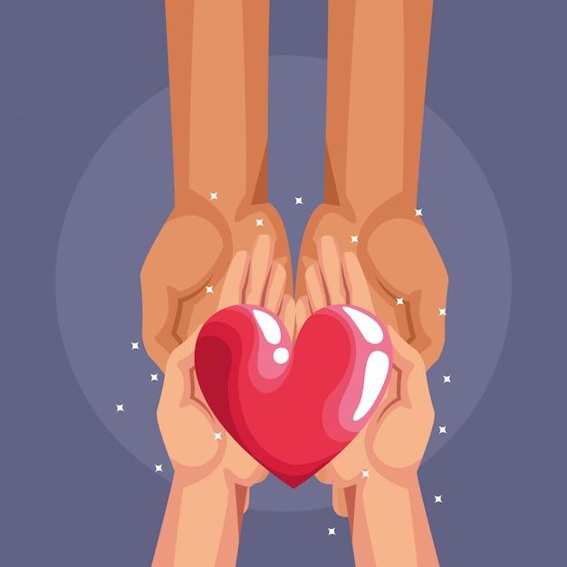 Desenhos de caridade doação de sangue Vetor Premium
