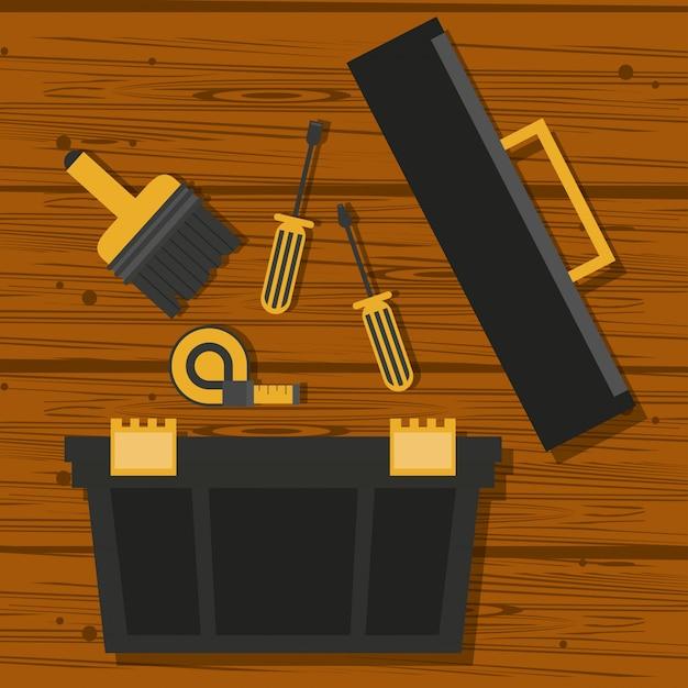 Desenhos de ferramentas de construção Vetor Premium