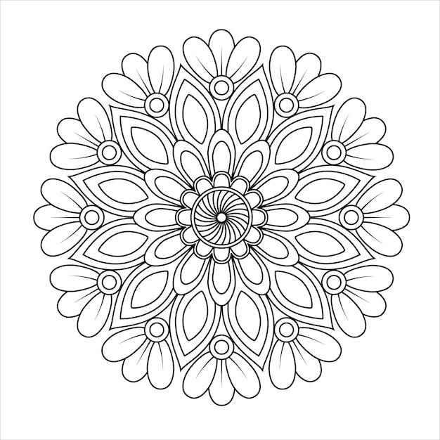 Desenhos De Mandala Para Colorir Imprimir Os Redemoinhos Vetor