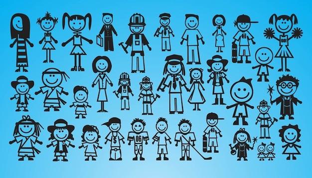 Crianças Que Jogam O Futebol Nos Desenhos Animados Do: Baixar Vetores Grátis