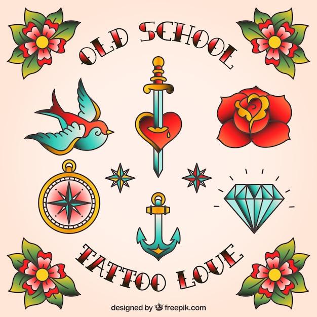 Desenhos de tatuagem Vetor grátis