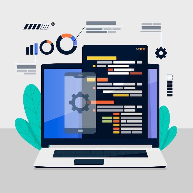 Desenvolvimento de aplicativos Vetor grátis