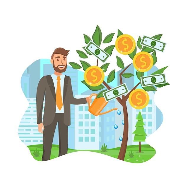 Desenvolvimento de negócios Vetor Premium