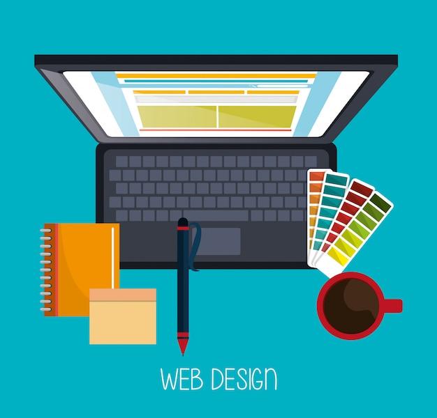 Desenvolvimento de web design Vetor grátis
