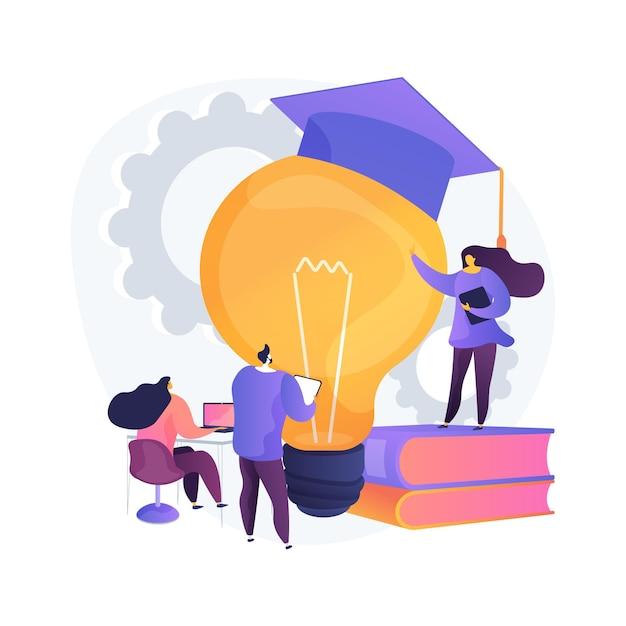 Desenvolvimento profissional de ilustração do conceito abstrato de professores. iniciativa da autoridade escolar, treinamento para professores, conferência e seminário, programa de qualificação Vetor grátis
