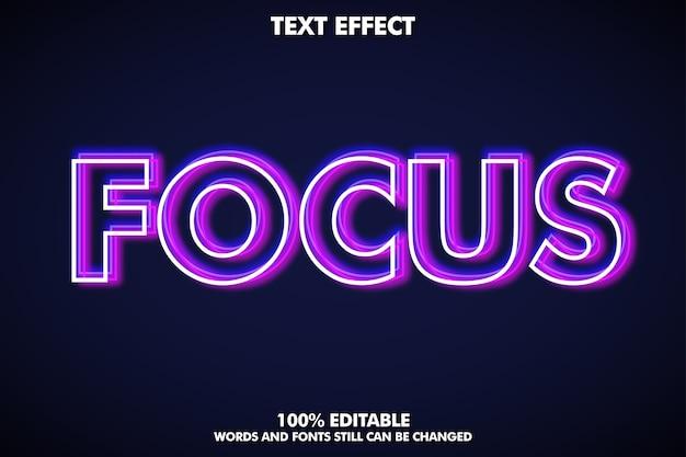 Desfocar o efeito de texto de contorno brilhante Vetor grátis