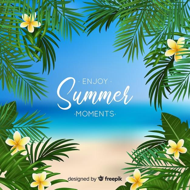Desfrute de fundo de verão Vetor grátis