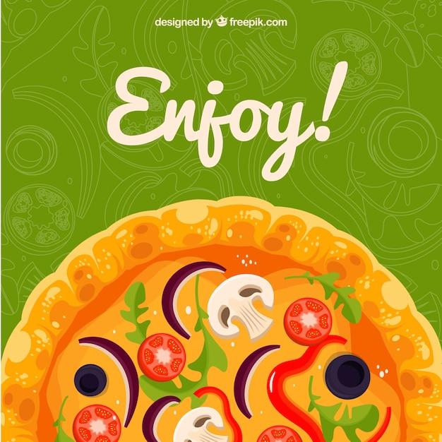 Desfrute do fundo da pizza Vetor grátis