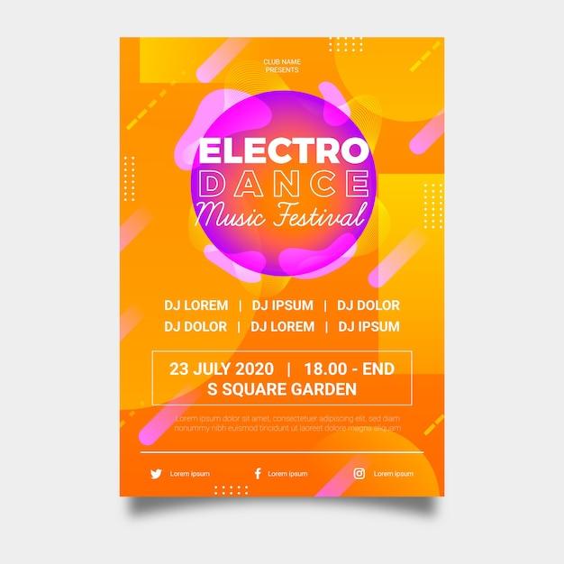 Design abstrato de cartaz de festa Vetor grátis
