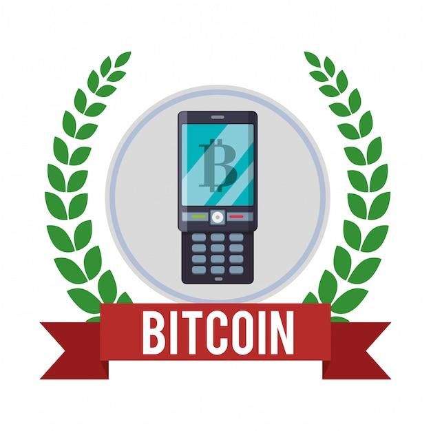 Design bitcoin Vetor Premium