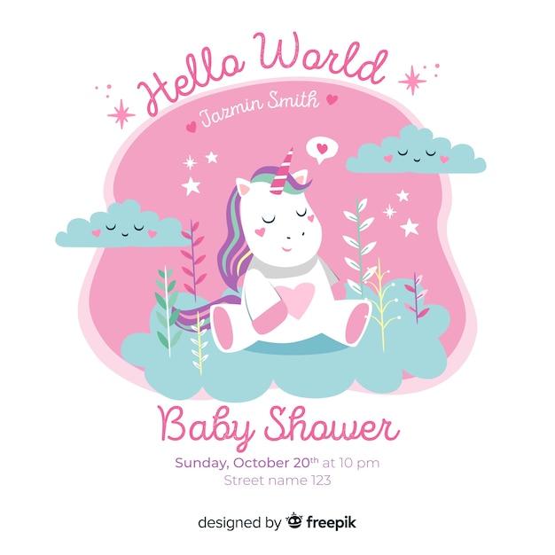 Design bonito do chuveiro de bebê Vetor grátis