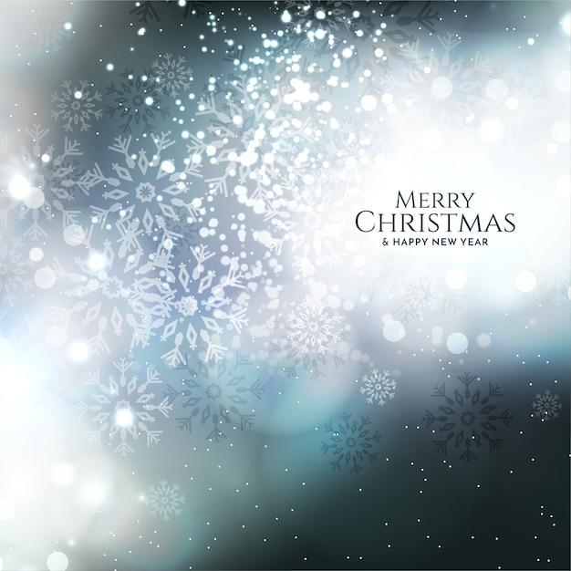 Design brilhante do fundo do feliz natal com brilhos Vetor grátis