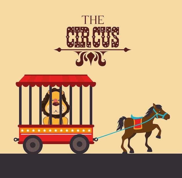Design circo Vetor Premium