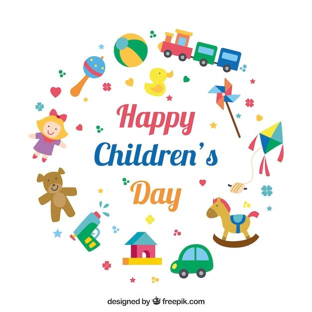 Design circular do dia das crianças com elementos | Baixar ...