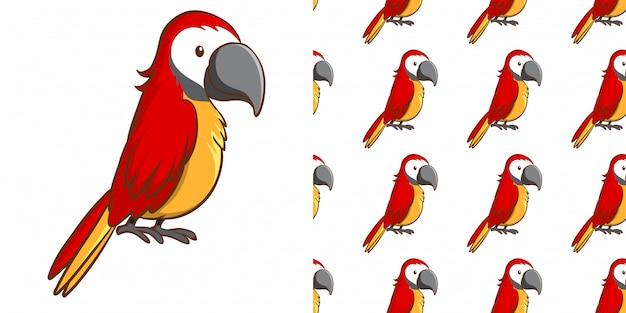 Design com arara vermelha padrão sem emenda Vetor grátis