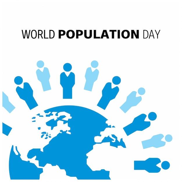 Design com globo para dia mundial da população Vetor grátis