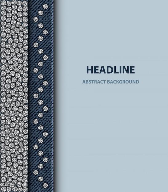 Design com lantejoulas prateadas redondas Vetor Premium