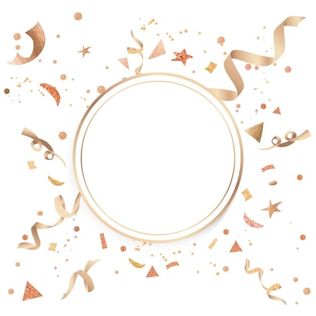 Design comemorativo de confete ouro Vetor grátis