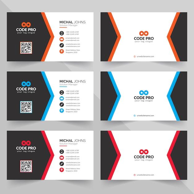 Design criativo cartão de visita Vetor Premium