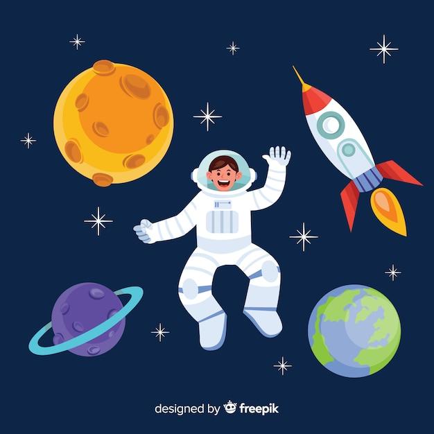 Design criativo de astronauta Vetor grátis