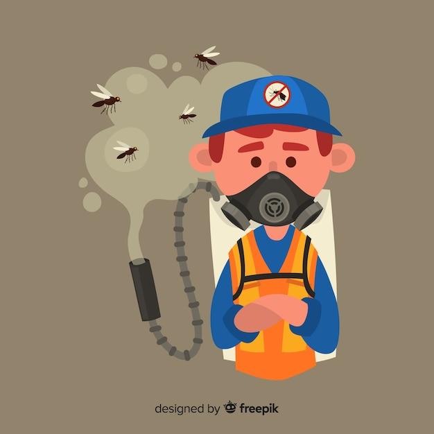 Design criativo de controle de mosquitos Vetor grátis