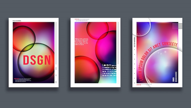 Design da capa abstrata. Vetor Premium