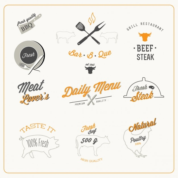 Design da comida Vetor grátis