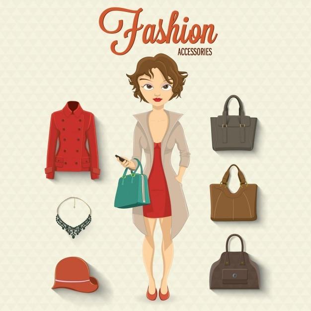 design de acessórios de moda Vetor grátis
