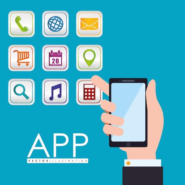 Design de aplicativo Vetor Premium