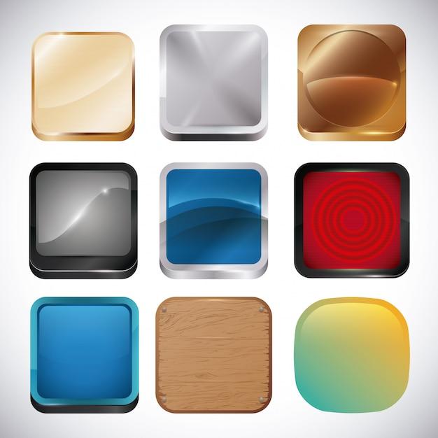 Design de aplicativos móveis. Vetor Premium