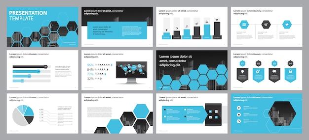 Design de apresentação de negócios e layout de brochura Vetor Premium