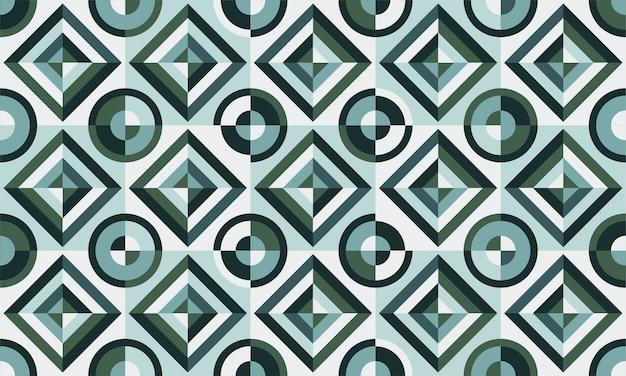 Design de azulejos. ilustração vetorial padrão de piso. elementos decorativos vintage. perfeito para impressão em papel ou tecido. Vetor Premium