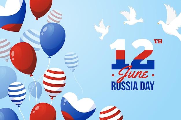 Design de balões de dia da rússia Vetor grátis