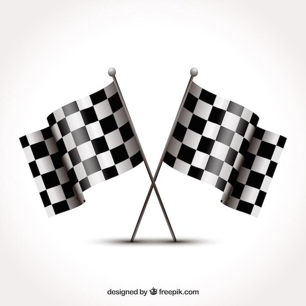 Design de bandeira quadriculada Vetor grátis