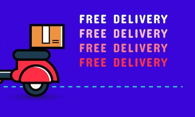 Design de banner de entrega gratuita Vetor Premium
