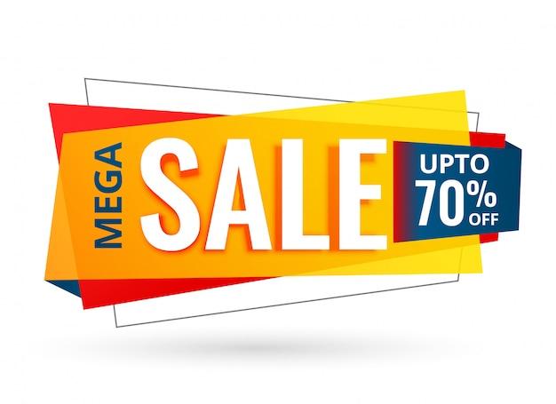 Design de banner de venda para promoção de negócios Vetor grátis