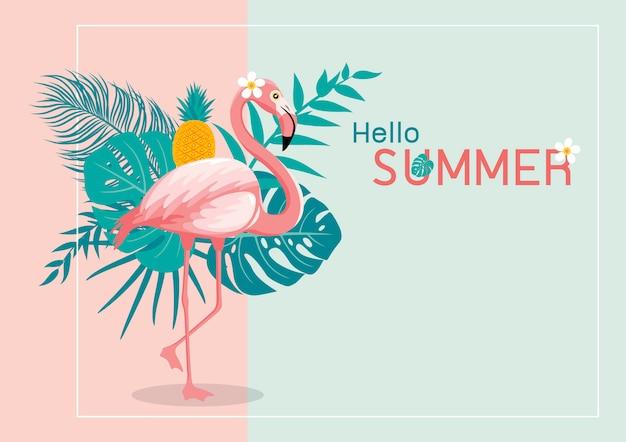 Design de banner de verão Vetor Premium