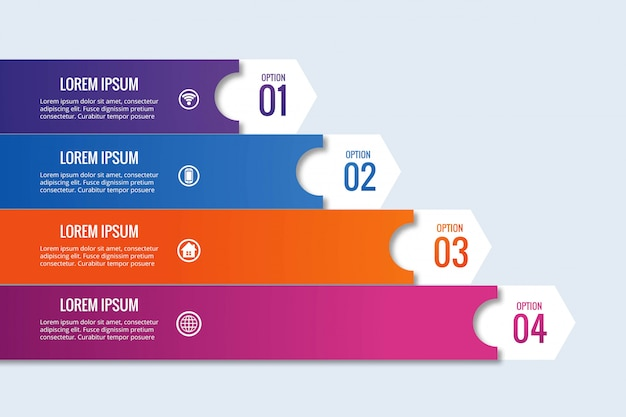 Design de banner infográfico empresarial moderno Vetor grátis